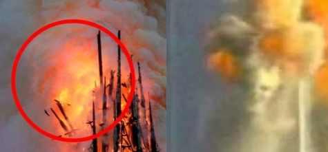 Нотр-Дам-де-Пари в огне увидели демонов