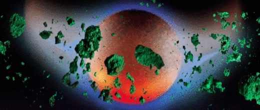 Нибиру перед Концом Света закидает Землю зелеными метеоритами