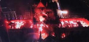 Пожар парижской Богоматери видео