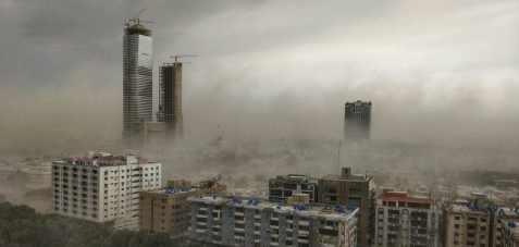 В Пакистане налетела мега пылевая буря