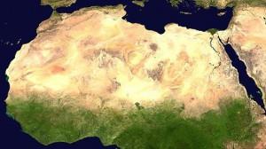 географическая карта в Пустыне ЕС