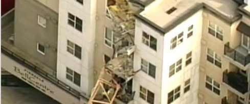 Землетрясение обрушило кран в Сиэтле