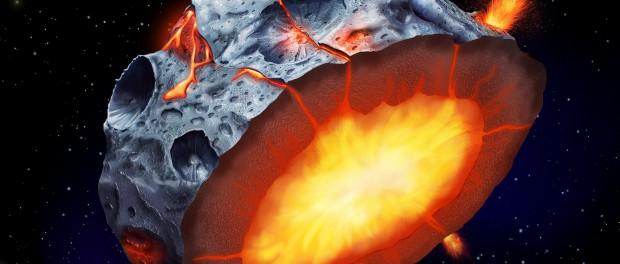 На астероидах ещё и извергаются вулканы