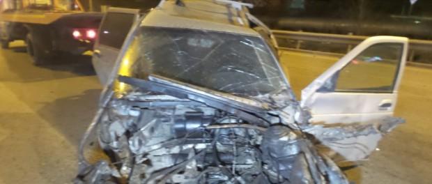 ЖБИ пьяный водитель снёс забор и остался жив