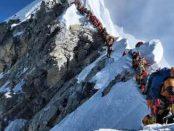 Эверест вершина очередь