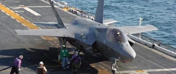 Упавший японский F-35 обнаружен в море