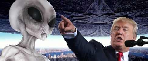 Дональд Трамп проговорился про инопланетян