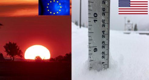 В США снег, в Европе жара впервые за 1500 лет