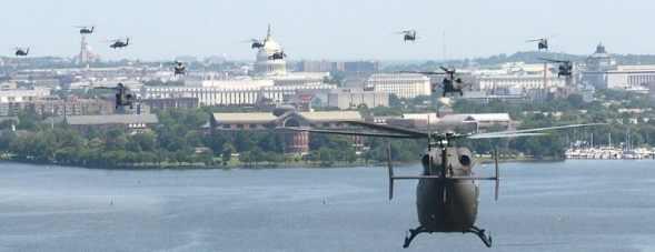 Сотни «Черных Ястребов» над Вашингтоном готовят фальшлаг