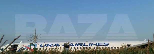Пассажирский самолет А-321 рейсом Москва – Симферополь поле фото