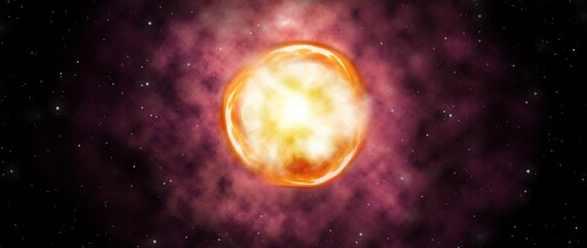 Необычно умирающая сверхновая звезда