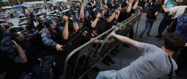 Возбуждено уголовное дело о массовых беспорядках на акции оппозиции 27 июля