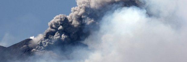 Вулкан Этна: жёлтый уровень опасности