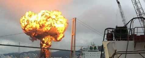 В Южной Корее взорвались 2 танкера