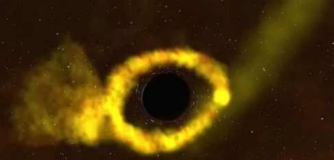 Астрономы  сфотографировали аннигиляцию звезды в черной дыре