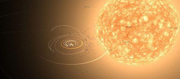 К Земле движется гигантское солнце