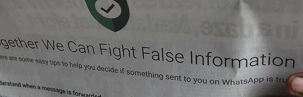 WhatsApp борется с фейковыми новостями, но кого это останавливало