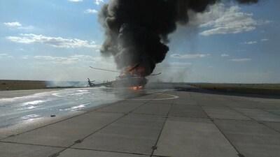 В России упал новый военный вертолет