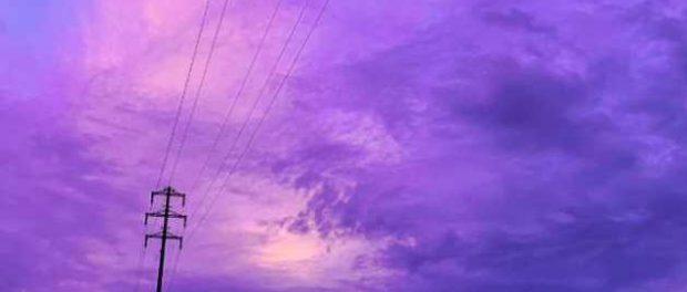После тайфуна Хагибис небо над Японией стало лиловым