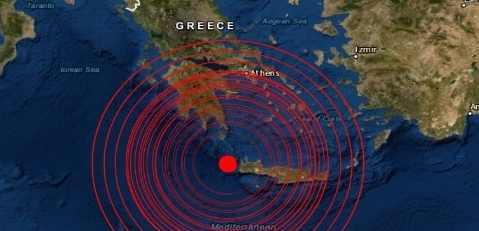В Греции землетрясение М6.0 от прохождения Нибиру