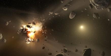 Землю атакуют облако астероидов