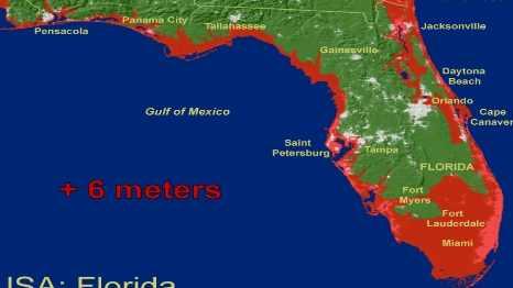 Флорида полностью уходит под воду