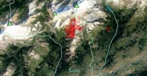 В Сионе продолжаются непонятные землетрясения