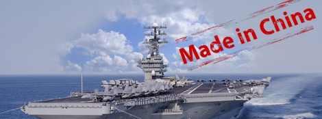 Китай уставил на авианосцы США свое оборудование