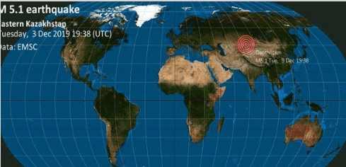 Землетрясение в Казахстане 4 декабря