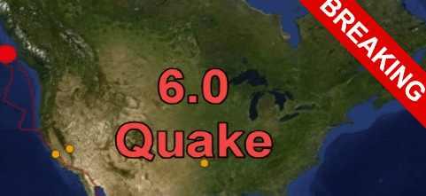 Зона риска субдукции Каскадия М6.0.