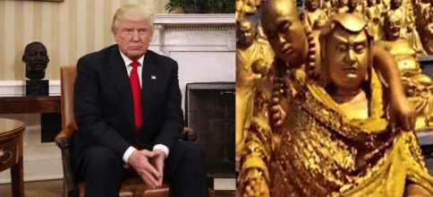 Трамп появился в загадочном храме в Таиланде