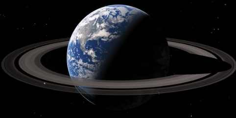Земля окружена кольцами Сатурна