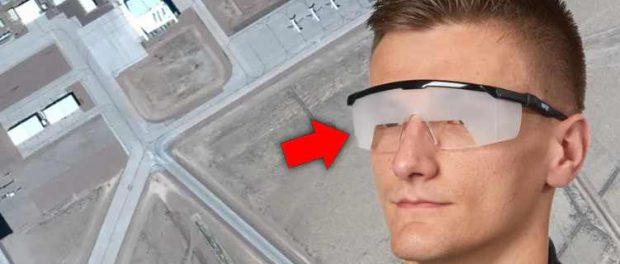 Посетители зоны 51 должны носить «очки», которые сильно ограничивают зрение при передвижении