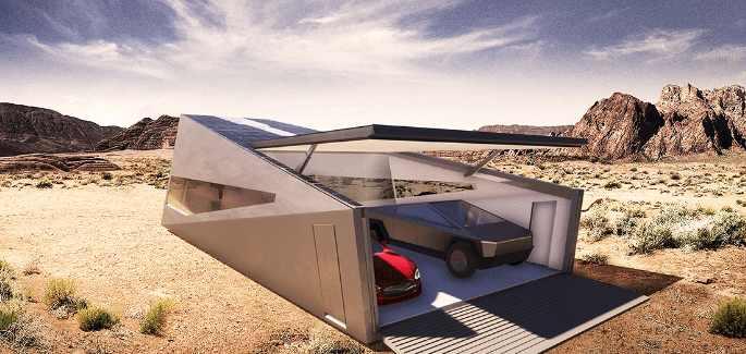 гараж для Tesla Cybertruck