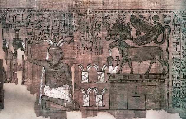 Виньетка из Книги Мертвых Танафера.
