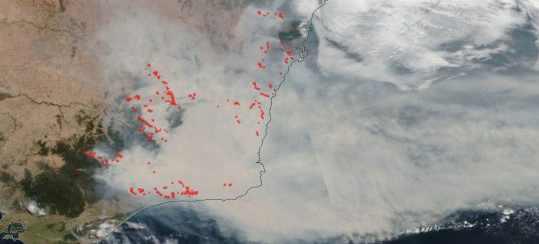 Дым от пожаров в Австралии создаст ядерную зиму