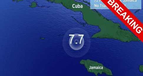 Землетрясение М7.7 на Ямайке