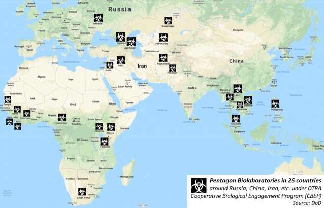 карта биолаболатории Пентагона