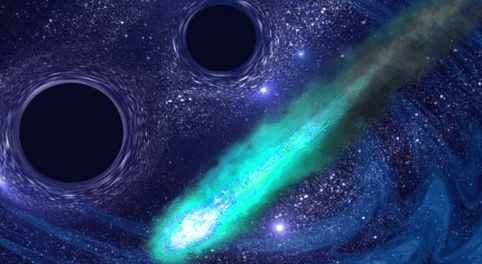 Черная дыра атакует Землю астероидами