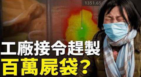 Китай заказал миллион мешков для трупов от вируса