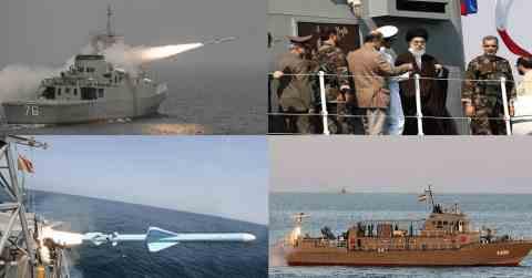 Иранские ВМФ обстреляли и утопили свой корвет