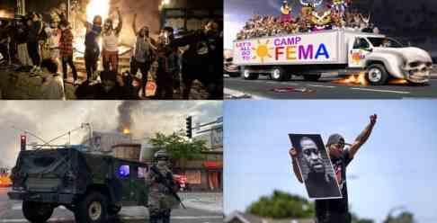 Америка пылает в огне и протестах