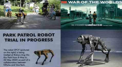Роботы начали патрулировать во время карантина