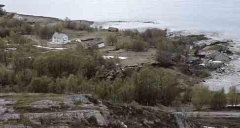 Оползень в Норвегии может докатиться до другого места