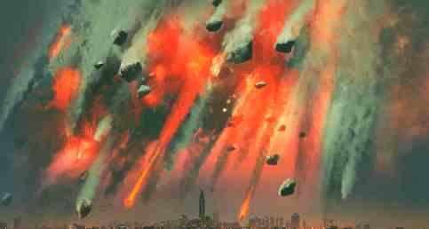 Астероидный дождь и сдвиг полюсов в течении года