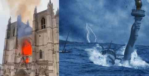 Плохой знак: загорелся собор Святых Петра и Павла