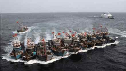 Китайская группировка в Тихом океане из 250 кораблей