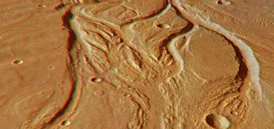 Древний Марс был покрыт ледяными глыбами, а не реками