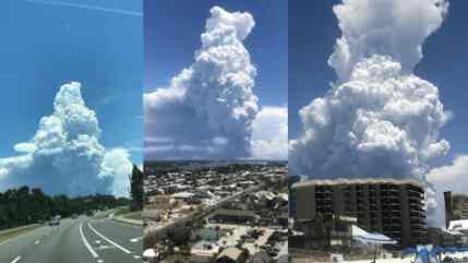 Над Флоридой замечено облако похожее ядерный взрыв