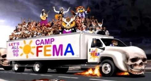 FEMA строит карантинные лагеря
